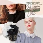 Stylish Blouse Detachable Lace Collar