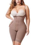 Knee Length Underbust Body Shaper Fajas For Women Postpartum Girdle Body Shaper