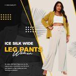Ice Silk Wide Leg Pants Women 🔥AUTUMN SALE 50% OFF🔥