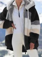 🔥 Contrasting Lamb Wool Padded Coat
