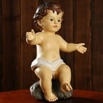 Creative Open Hands Hug Baby Jesus Doll Statue