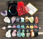 Chakra Therapy Starter Collection 17 Pcs Healing Crystals Kit