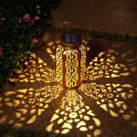 Led Solar Powered Outdoor Moroccan Lamp