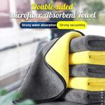✅ Double-Sided Microfiber Absorbent Towel