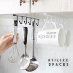 ❤️ Under-Cabinet Hanger Rack (6 Hooks)