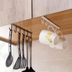 🔥 Under-Cabinet Hanger Rack (6 Hooks)