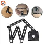 ✅ Six-Sided Aluminum Alloy Angle Measuring Tool