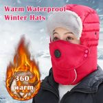 New Fashion Universal Waterproof Warm Hat With Glasses and Face Cover