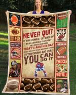 Custom Blanket - Football - Never Quit