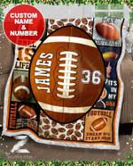 Custom Fleece Blanket - Football - Eat Sleep Play