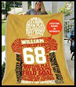 Custom Blanket - Football Player