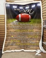 Custom Fleece Blanket - Birthday Gift - Football - Son (Mom) - Remember To Be Awesome
