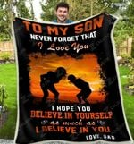 Blanket - Football - To My Son - Never Forget That