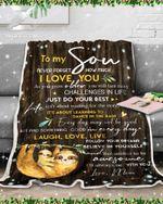 Fleece Blanket - Custom Blanket - Sloth - To My Son (Mom) - I'Ll Always Be With You