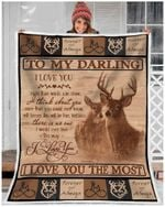 Mk - Blanket - Deer - Darling - I Love You More Than Words Can Show