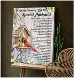 Special Husband Cardinal Wall Art Canvas