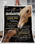 Custom Fleece Blanket - Horse - To My Granddaughter (Grandma) - Just Do Your Best