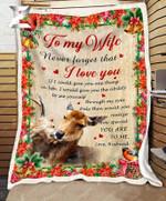 Teemodel - Fleece Blanket - Deer - To My Wife - How Special You Are To Me