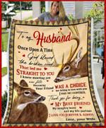 Custom Fleece Blanket - To My Husband - Wedding Anniversary - Deer - God Blessed The Broken Road