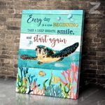 Teemodel - Turtle - Canvas - Every Day Is A New Beginning