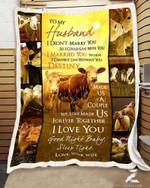 Teemodel - Custom Fleece Blanket - Cow - To My Husband - Destiny