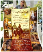 Fleece Blanket - Custom Blanket - Horse - Wedding Anniversary - To My Husband - Destiny