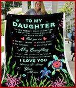 Blanket - Turtle - To My Daughter - My Everything