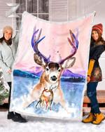 Teemodel - Fleece Blanket - Deer