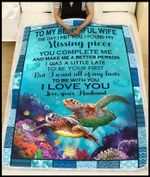 Blanket - Turtle - To My Beautiful Wife