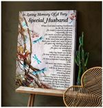 Teemodel Special Husband Dragonfly Wall Art Canvas