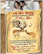 Blanket - Deer - To My Wife - How Special You Are To Me Ver2