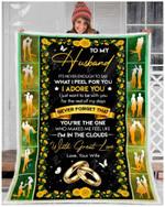 Teemodel - Custom Fleece Blanket - To My Husband - I Adore You
