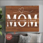 Mom Personalized Name Wall Art Canvas