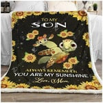 Blanket - Turtle - To My Son - My Sunshine