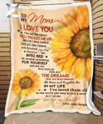 Teemodel - Custom Fleece Blanket - To My Mom (Daughter) - You Are My World