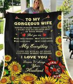 Blanket - Firefighter - To My Wife - My Everything