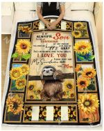 Blanket - Sloth - To My Beautiful Son - Love Mom