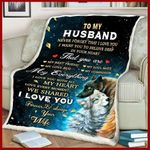 Blanket - Wolf - To My Husband - My Everything