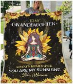 Blanket - Hippie - To My Granddaughter - Love Nonna