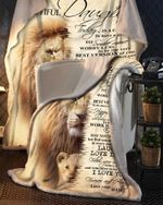 To Be Awesome Dad To Daughter Lion Blanket
