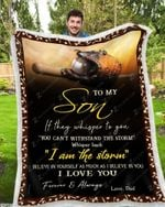 Blanket - Baseball - To My Son - I Love You(Dad)