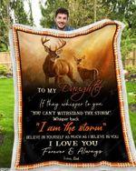 Blanket - Deer- To My Daughter - I Love You(Dad)