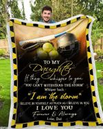 Blanket - Softball - To My Daughter - I Love You2(Dad)
