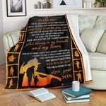 Pp - Blanket - Firefighter - Dad - Thank You