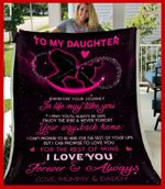 Blanket - Daughter (Mummy,Daddy) - Wherever Your Journey In Life May Take You