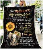 Blanket - Elephant - Daughter (Mom) - My Only Sunshine