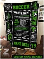 Blanket - Soccer - To My Son - Be That Boy (Mom)