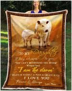 Blanket - British White Cow - To My Daughter - Love Mom