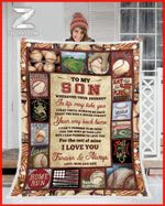 Blanket - Baseball - Son (Mom&Dad) - Wherever Your Journey In Life May Take You