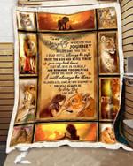 Custom Fleece Blanket - For Daughter From Mom - Lion - Journey